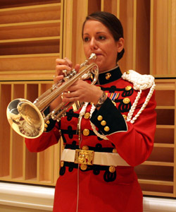 U.S. Marine Band Staff Sergeant Amy McCabe is featured soloist at Shoreline Concert Band Concert